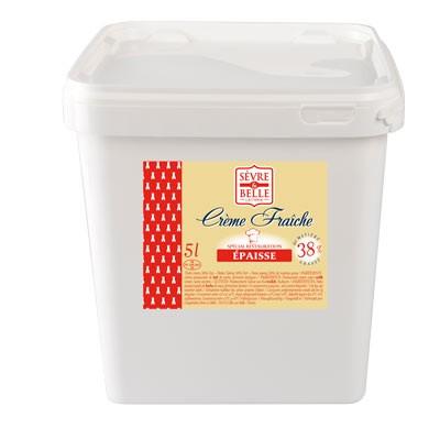 Crème fraîche épaisse 38% - seau 5L - Sèvre & Belle