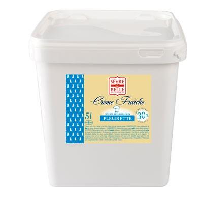 Crème fraîche fleurrette 30% - seau 5L - Sèvre & elle