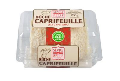 La bûche Caprifeuille 150g - fromage de chèvre - lait cru à la moulé louche - gamme libre service - Sèvre & Belle