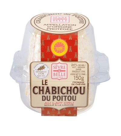 Le Chabichou du Poitou AOP 150g - fromage de chèvre - lait cru à la moulé louche - gamme libre service - Sèvre & Belle