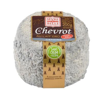 Le Chevrot cendré 200g - fromage de chèvre au lait cru moulé à la louche - gamme coupe - Sèvre & Belle