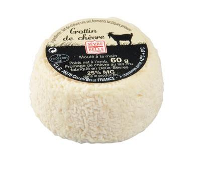 Le Crottin 60g - fromage de chèvre au lait cru moulé à la louche - gamme coupe - Sèvre & Belle
