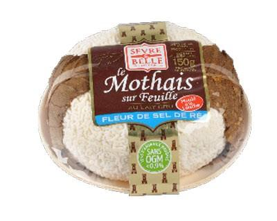 Le Mothais sur feuille fleur de sel de Ré 150g - fromage de chèvre au lait cru moulé à la louche - gamme frais emballé - Sèvre & Belle