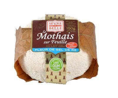 Le Mothais sur feuille à la fleur de Ré 150g - fromage de chèvre au lait cru moulé à la louche - gamme coupe - Sèvre & Belle