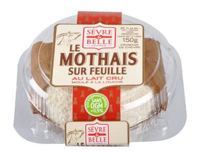 Le Mothais sur feuille 150g - fromage de chèvre - lait cru à la moulé louche - gamme libre service - Sèvre & Belle