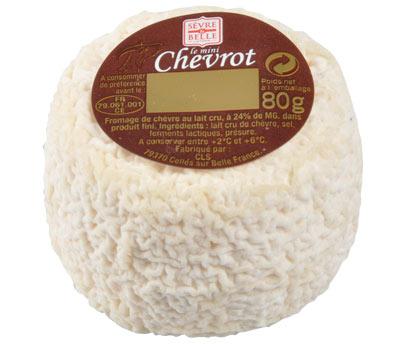 Le mini Chevrot 80g - fromage de chèvre au lait cru moulé à la louche - gamme coupe - Sèvre & Belle