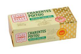 Plaquette 250g - Beurre Demi-sel - Baratte - Sèvre & Belle