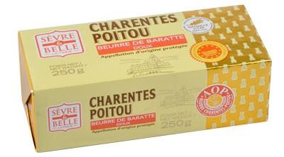 Plaquette 250g - Beurre Doux - Baratte - Sèvre & Belle