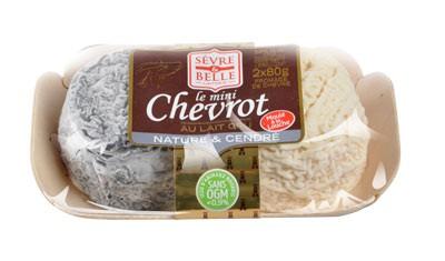 Plateau panaché 2 mini Chevrot - fromage de chèvre au lait cru moulé à la louche - gamme frais emballé - Sèvre & Belle
