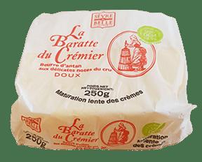 Beurre doux la barrate du crémier artisanal Sèvre&Belle