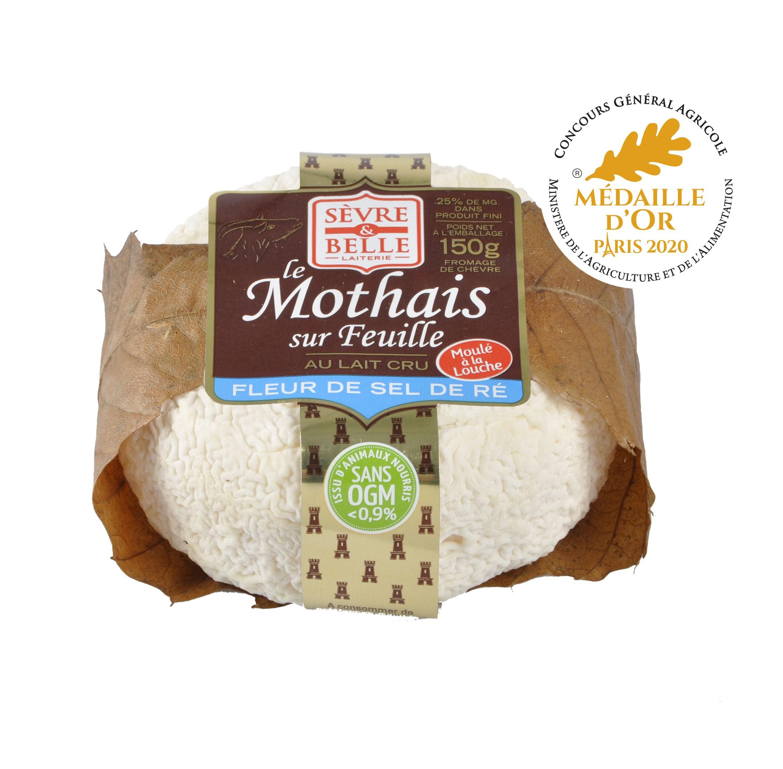 Fromage au lait cru Le Mothais sur feuille médaille d'or 2020