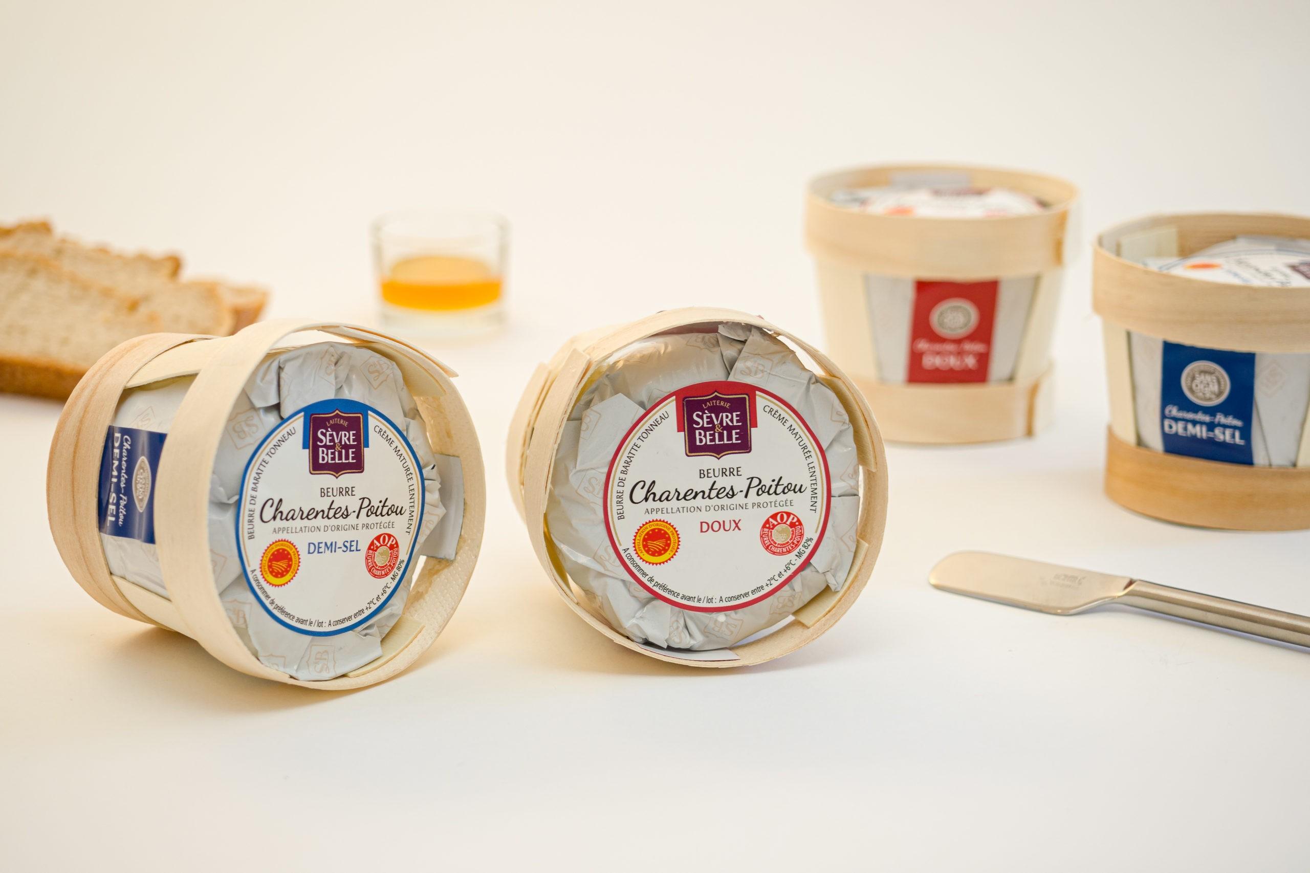 Beurres de Charente Poitou Sèvre&Belle doux et demi-salé