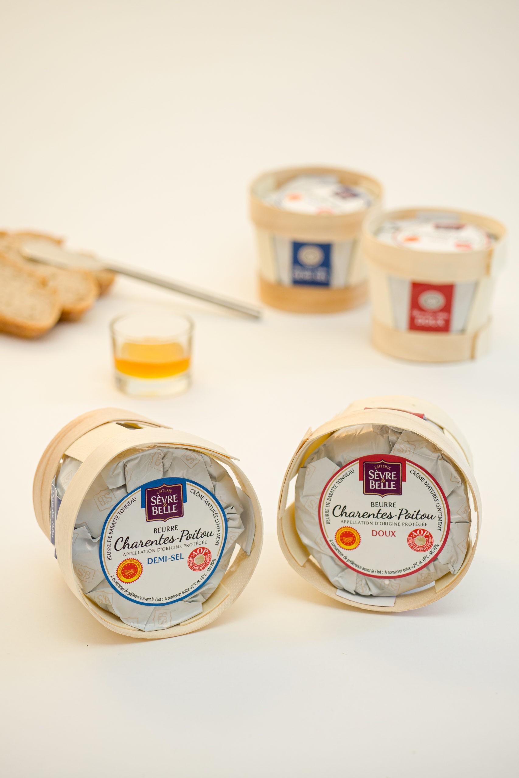 Beurres doux et salés AOP Charentes-Poitou