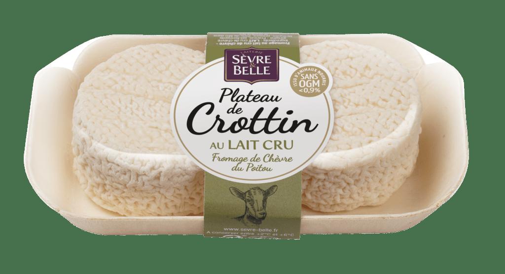 Plateau de Crottin au lait cru, fromage de chèvre Sèvre&Belle